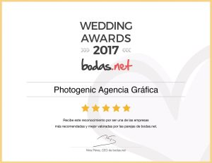 Premio Wedding Awards 2017 - Photogenic Agencia Gráfica