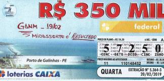 R$ 350 mil da Loteria Federal