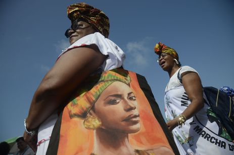O Fórum Estadual de Mulheres Negras do Rio de Janeiro realizou pelo quinto ano consecutivo, a Marcha das Mulheres Negras, na orla de Copacabana, zona sul da capital.