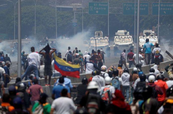 Venezuela, golpe, manifestações