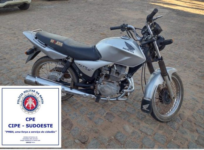Polícia apreendeu moto com sinais de adulteração na zona rural de Guanambi
