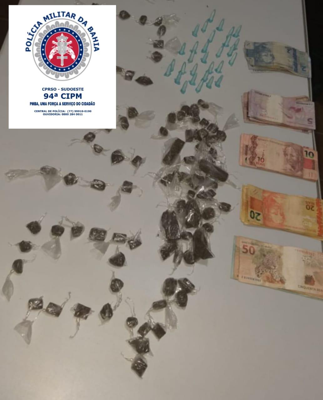 Polícia prende suspeito de tráfico de drogas em Licínio de Almeida