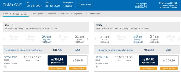 passagem azul guanambi belo horizonte Azul inicia venda de passagens de Guanambi para Belo Horizonte