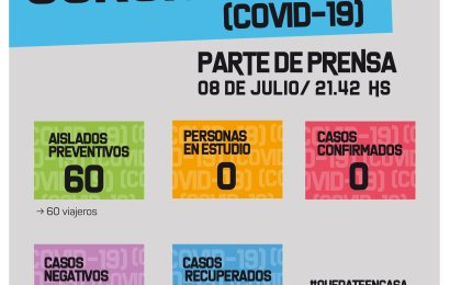 COVID 19: El Municipio envió el reporte diario