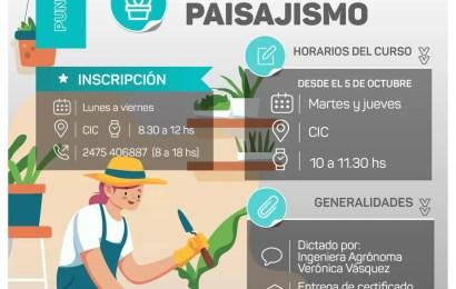 Abren curso Agro Eco Orgánico con orientación en paisajismo