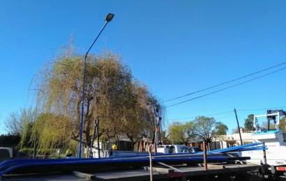 Avanza la iluminación en barrio Santa Teresa