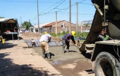 Comenzó la pavimentación de calle Liniers