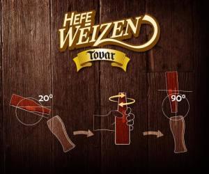 Infografia como servir Cerveza Hefe Weizen