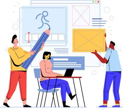 Ilustración Proceso de Producción video animado