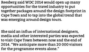 Cape Town Design Capital Reesberg