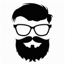 hipster man glasses beard 512