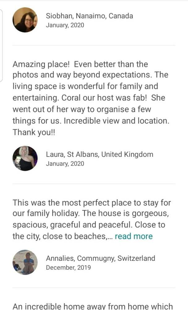 Expected guests Airbnb reviews