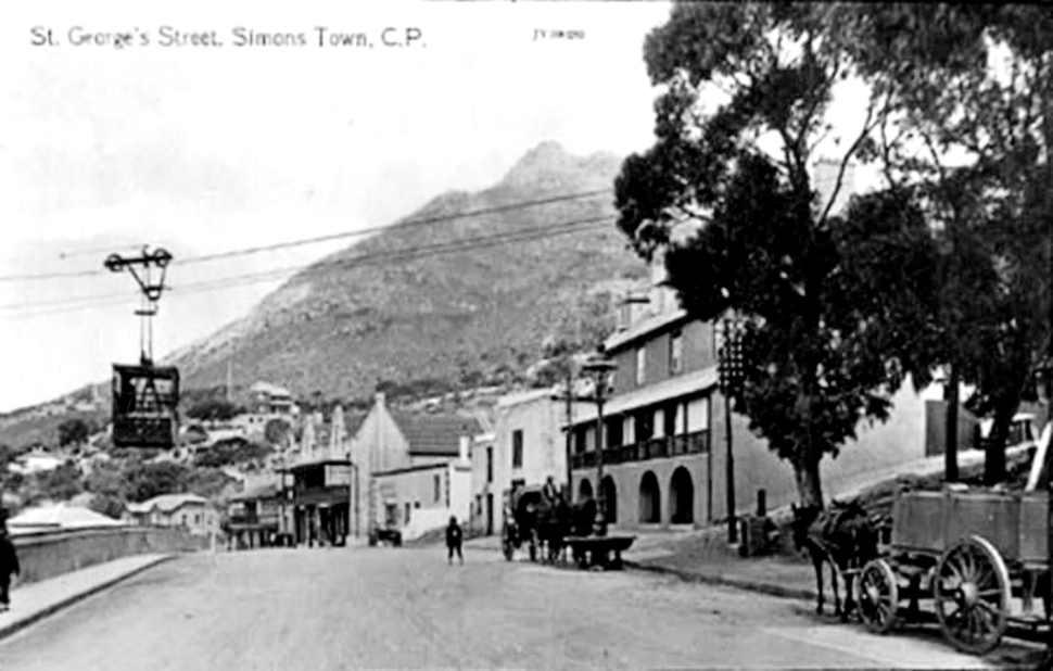 History Of Simons Town Historic Street from years ago. Simonstown have not changed a lot