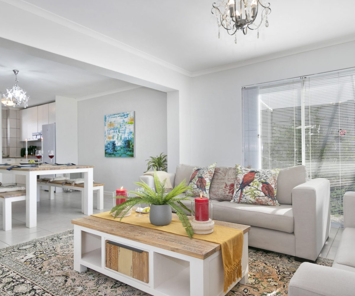 Lounge at 2 Bedroom Marina Da Gama Self Catering Accommodation In Muizenberg - Heron Cottage