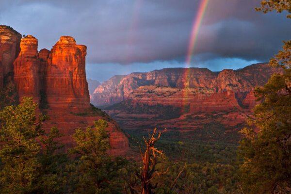 Beautiful Sedona with Rainbow