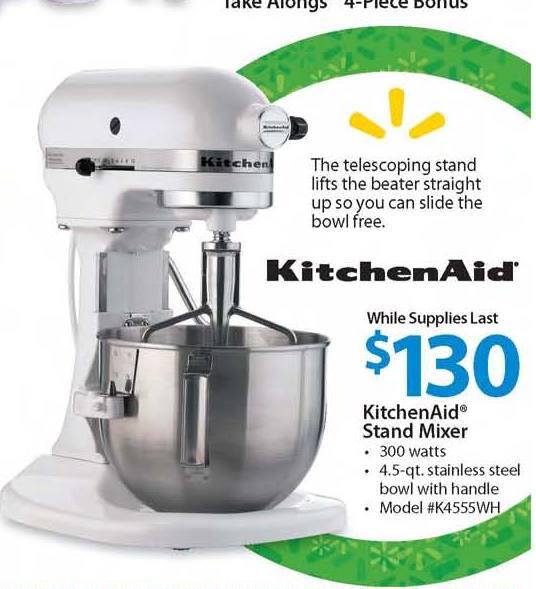 walmart kitchen aid mixer under cabinet lighting options kitchenaid 4 5qt stand 130 black friday chicago foodies