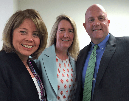 Kimberly Phelps-Nelson, Catherine Slattery, and Jeff Phelps at the closing of the Slattery acquisition.