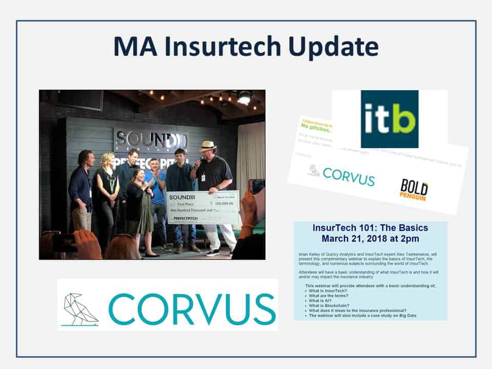 MA Insurtech Update: Corvus, LearnLux and Insurtech Boston IV & ILAB's Insurtech 101