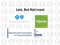 Agency Checklists, MA Insurance News, Mass. Insurance News, BlueCross/Blue Shield Workers Comp, The Hanover, MAIA Board of Directors, Massagent Directors