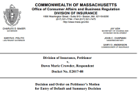Mass. DOI Hearing Officers Revoke Two Producers' Licenses and Impose Fines Totaling $2,500