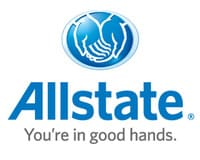 Allstate Insurance logo with clapsed hands