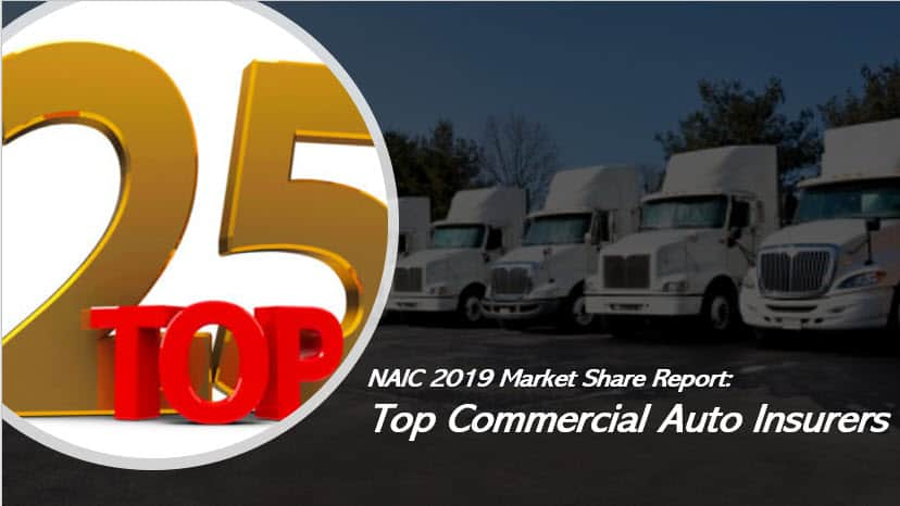 Naic 2019 Market Share Report The Top 25 Commercial Auto Insurance