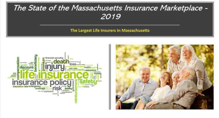 Who are the largest life insurers in Massachusetts?