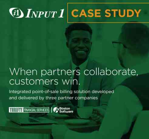 Thrifty Input One Premium Finance Case Study