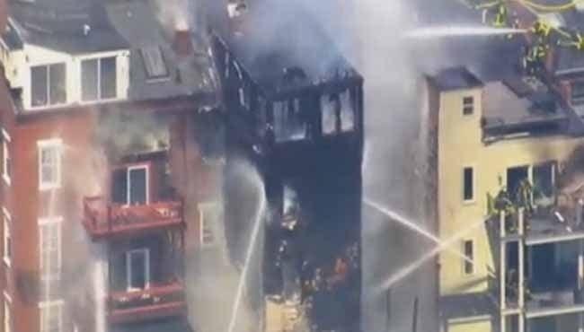 photo of six alarm condo fire