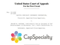 Appeals Court Case Cap Specialty Million Dollar Judgment