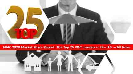 Agency Checklists NAIC 2020 Market Share Report - Top 25 Insurers All Lines