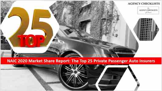 agency checklists' top 25 insurers commercial auto insurers in the us list