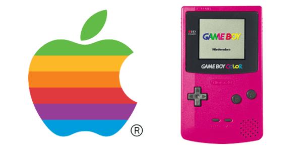 Apple and GameBoy Rainbow Logos