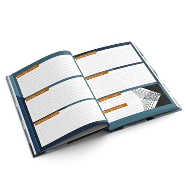Agenda A4 hardcover liggend drukken