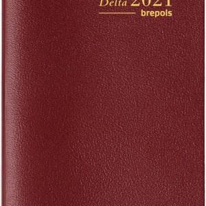 Brepols agenda Delta Seta 6-talig, 2021, bordeaux