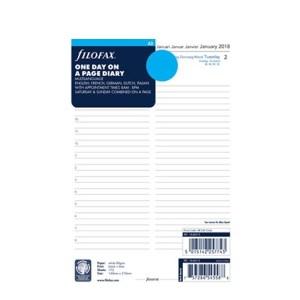 Filofax jaarinhoud 2021 - a5 (1 dag, meertalig, wit)