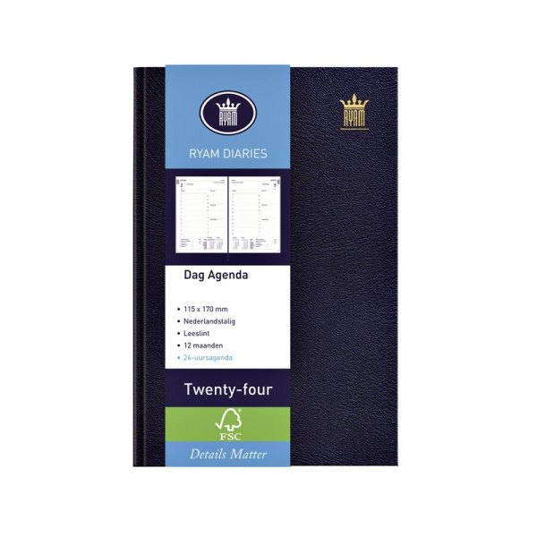 Agenda 2021 Ryam Twenty-four 1dag/1pagina donkerblauw