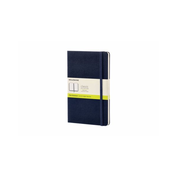 Notitieboek Moleskine L 130x210mm blanco sapphire blue