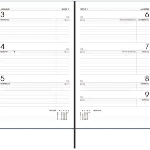 Agenda 2021 Ryam Efficiency kort 7dag/2pagina's bordeaux
