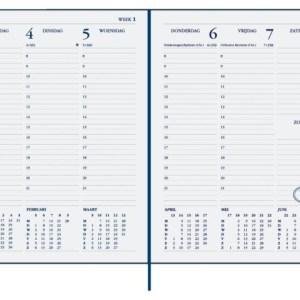 Agenda 2021 Ryam weekplan 7dag/2pagina's bordeaux