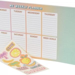 Weekplanner met stickers 33,5x21cm