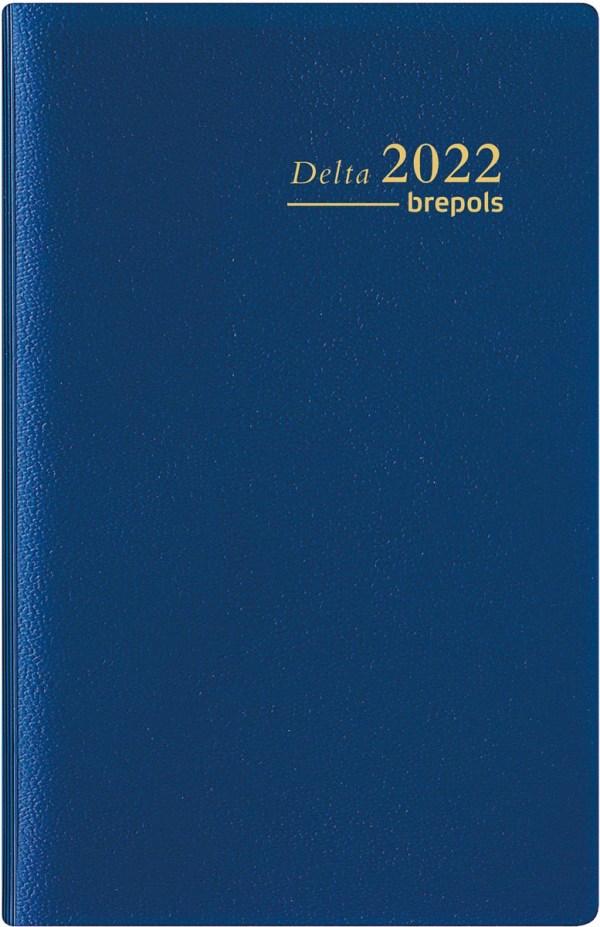 Brepols agenda Delta Seta 6-talig, blauw, 2022