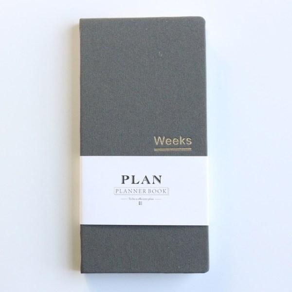 Klassieke hardcover Office school per planner notebooks briefpapier persoonlijke agenda planner organisator grootte: A6 18.9 x 9.4 cm (grijs)