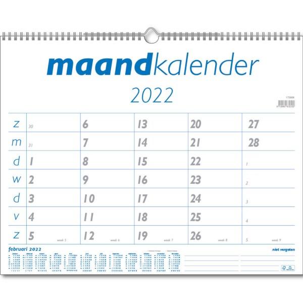 Maandkalender Breed 2022