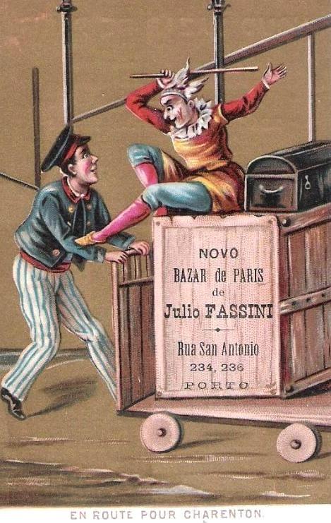 Bilhete-postal publicitário do Bazar de Paris, c.1905.