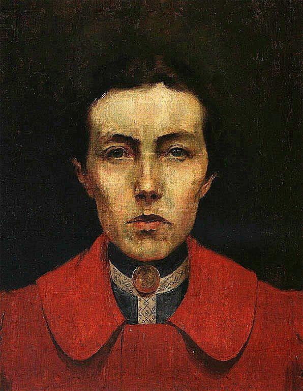 Auto-retrato (1900), pintura a óleo de Aurélia de Sousa