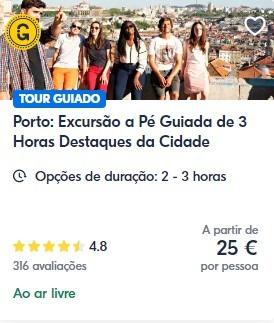 Excursão a pé no Centro histórico Porto