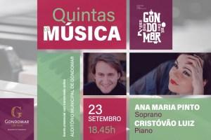 Quintas de Música Soprano Ana Maria pinto + Pianista Cristóvão Luiz