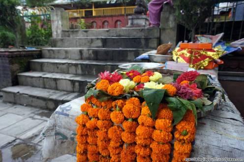 Doni in vendita alla vestizione del Dio Vishnu