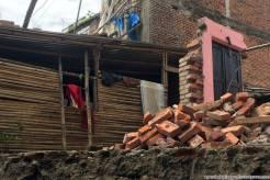 Quello che rimane di una casa dopo il terremoto